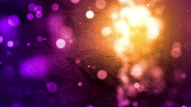 Crumpled Paper Background Loop - Purple Sunset (Full HD)