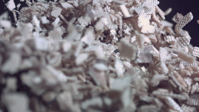 cu slo mo crushed wafers bouncing - wafer stock videos and b-roll footage