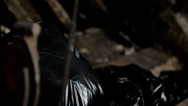 crushing bin bags - bin bag stock videos & royalty-free footage