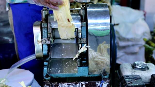 crushing cane sugar juice machiine - sugar cane stock videos & royalty-free footage