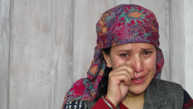 crying and weeping woman, close up - distraught stock videos & royalty-free footage
