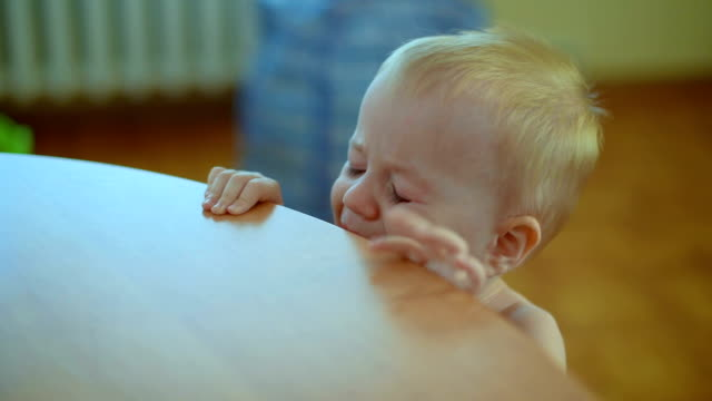 crying baby, close-up - toddler stock videos & royalty-free footage