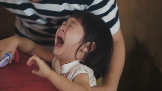 crying real emotion - baby girls stock videos & royalty-free footage