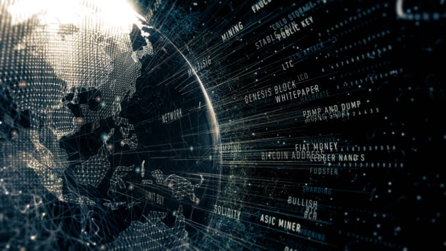 cryptocurrencies 利用規約 - イーサリアム点の映像素材/bロール