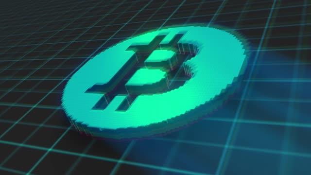 kryptowährung bitcoin mining konzept virtuell - computerhacker stock-videos und b-roll-filmmaterial