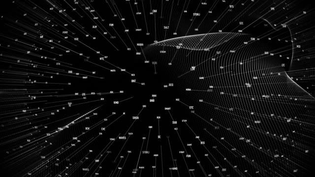 vidéos et rushes de symboles du marché de la crypto-monnaie - étude de marché