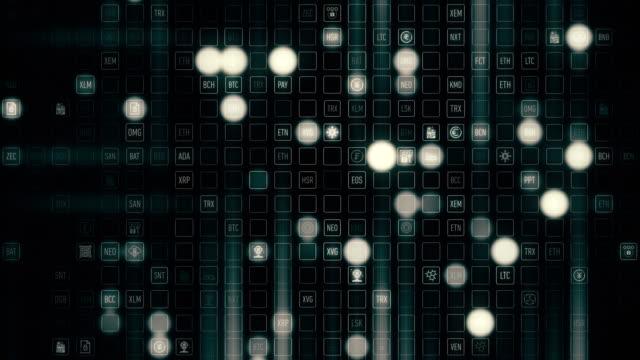 cryptocurrency market symbols - simbolo video stock e b–roll