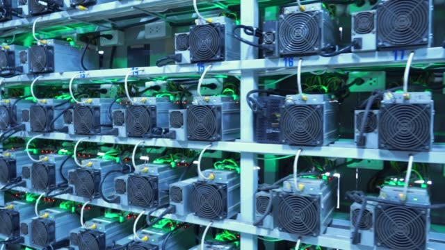 cryptocurrency mining machine - financial technology stock videos & royalty-free footage