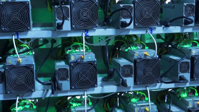 cryptocurrency mining machine - cryptocurrency mining stock videos & royalty-free footage