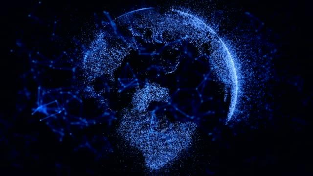 stockvideo's en b-roll-footage met cryptocurrency netwerk concept met blockchain, gegevens, internet, beveiligingssysteem, computernetwerk - financieel item