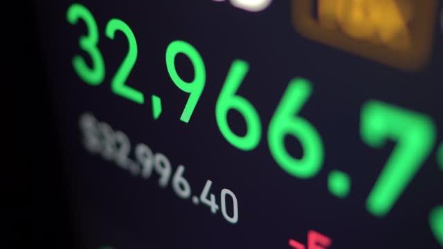 cryptocurrency stock display - bid stock videos & royalty-free footage