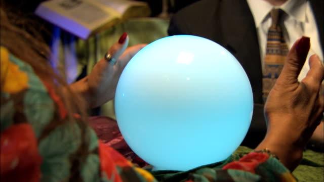 crystal ball 2 - crystal ball stock videos & royalty-free footage