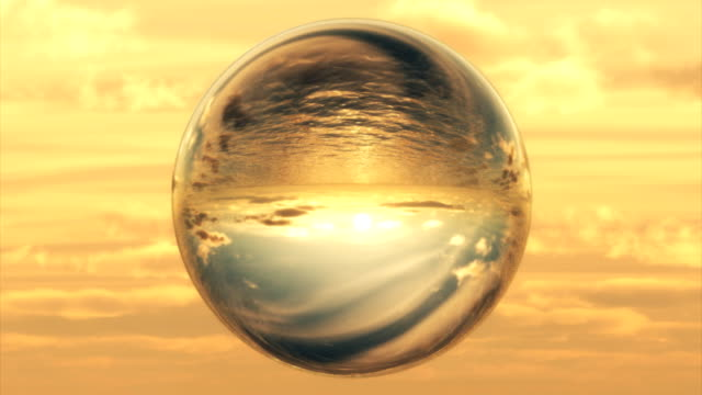 a crystal ball portrays a passing day. - crystal ball stock videos & royalty-free footage