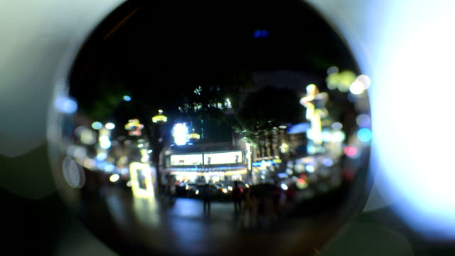 crystal ball with reflection of orchard road singapore - crystal ball stock videos & royalty-free footage