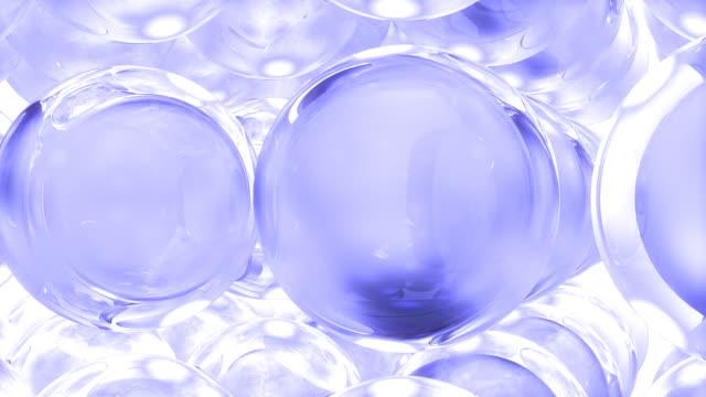 クリスタルボール#1 青色 - 沢山の物点の映像素材/bロール