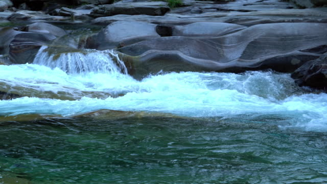 crystal clear waters in an alpine river - ticino canton stock videos and b-roll footage
