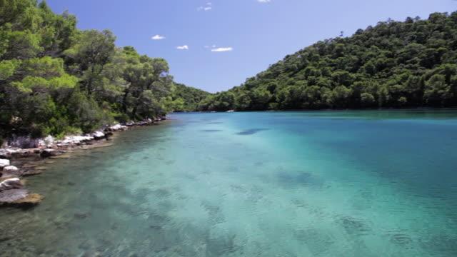 crystal clear waters of the adriatic sea, mljet national park, croatia - adriatic sea stock videos & royalty-free footage