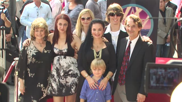 crystal gayle and family at the crystal gayle is honored with a star on the hollywood walk of fame at hollywood ca. - crystal gayle stock videos & royalty-free footage