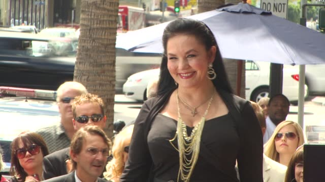 crystal gayle at the crystal gayle is honored with a star on the hollywood walk of fame at hollywood ca. - crystal gayle stock videos & royalty-free footage