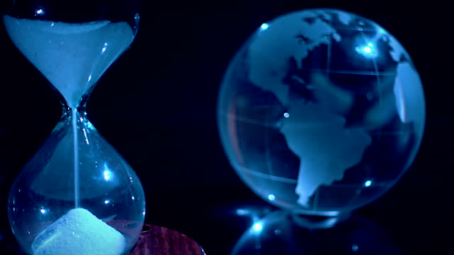 Crystal Globe And Hourglass
