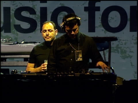 crystal method at the 'music for relief rebuilding south asia' benefit show at arrowhead pond in aneheim california on february 18 2005 - honda center anaheim stock videos & royalty-free footage