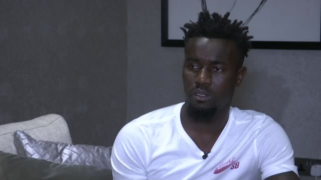 Crystal Palace player Pape Souare nearly ready to reutrn after horrific car crash Vauxhall INT Souare interview SOT