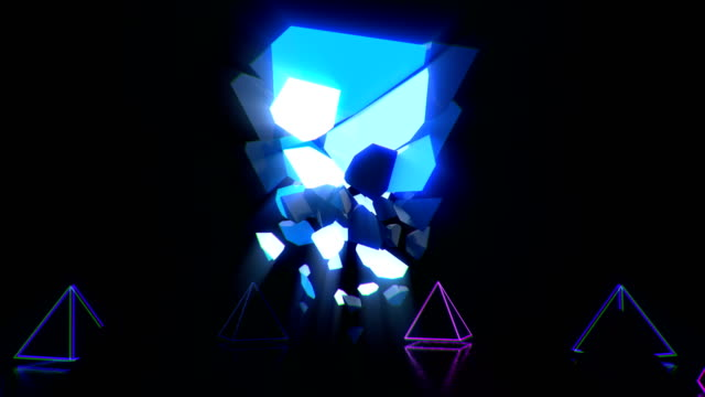 crystal pyramid vj loop - video jockey stock videos & royalty-free footage