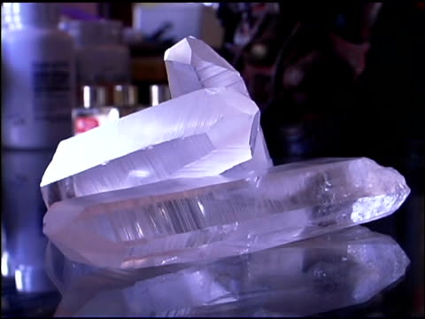 crystal quartz - small group of objects stock videos & royalty-free footage