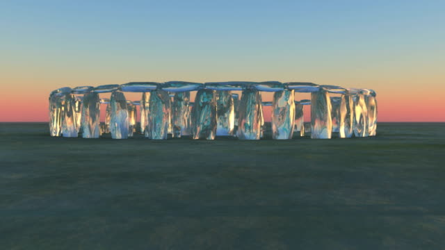 crystal stonehenge - rotation - obelisk stock videos & royalty-free footage