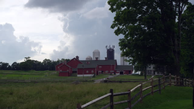 Ct Dairy Farm with storm clouds