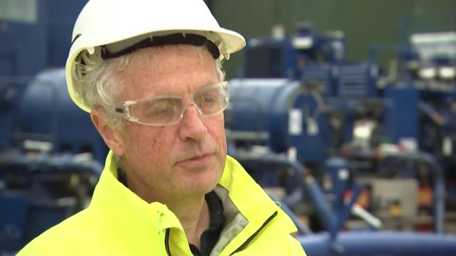 Cuadrilla to restart fracking in Lancashire ENGLAND Lancashire EXT Reporter talking to Francis Egan Francis Egan interview SOT Egan and reporter