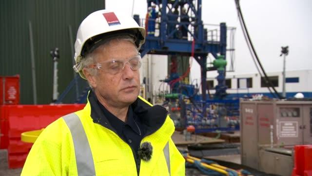 Cuadrilla to restart fracking in Lancashire ENGLAND Lancashire Cuadrilla fracking site near Blackpool antifracking protesters Francis Egan interview...
