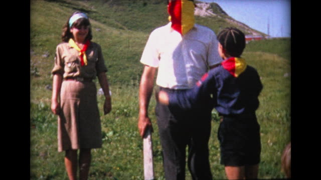 1964 cub scouts and girl scouts play game - boy scout stock videos & royalty-free footage