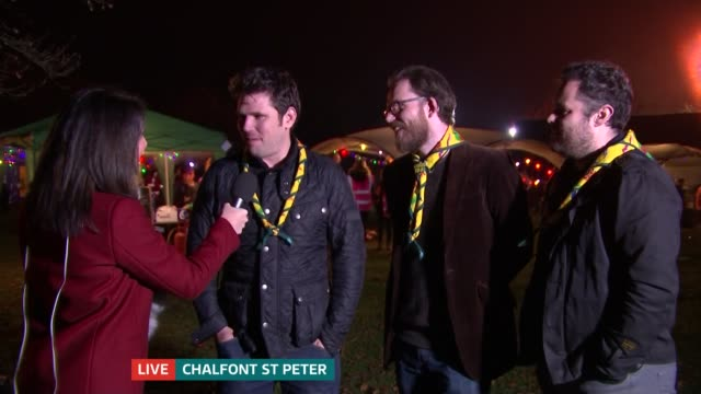 cub scouts centenary celebrations live reporter to camera / scouting for girls interview sot / vox pops - cub scouts stock videos and b-roll footage