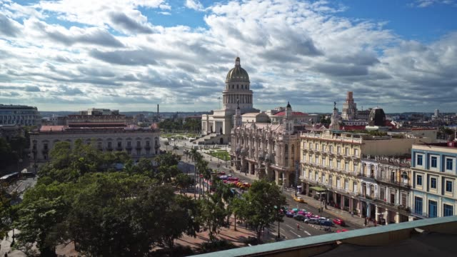 cuba aerial view over the capitolio - havana stock videos & royalty-free footage