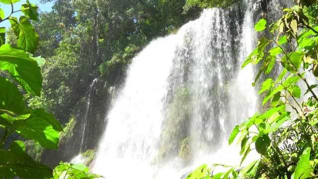 cuba, beauty in nature, 'el nicho' waterfall - eco tourism stock videos & royalty-free footage