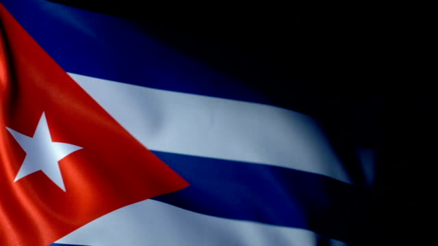 Cuba Flag Flapping