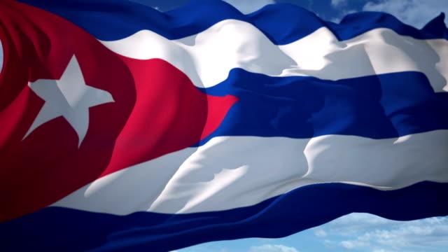 cuba flag - cuban culture stock videos & royalty-free footage