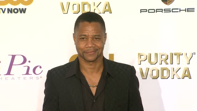 cuba gooding jr. at 19th annual critics' choice movie awards - arrivals at the barker hanger on in santa monica, california. - critics' choice movie awards stock videos & royalty-free footage