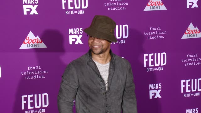 """cuba gooding jr. at premiere of fx network's """"feud: bette and joan"""" in los angeles, ca 3/1/17 - fx network stock videos & royalty-free footage"""