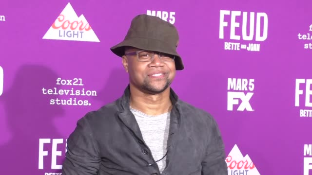 """cuba gooding jr. at the premiere of fx network's """"feud: bette and joan"""" at tcl chinese theatre on march 01, 2017 in hollywood, california. - fx network stock videos & royalty-free footage"""