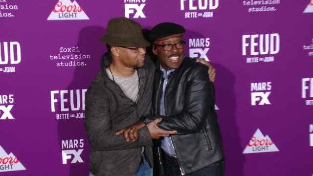 """cuba gooding jr., courtney b. vance at premiere of fx network's """"feud: bette and joan"""" in los angeles, ca 3/1/17 - fx network stock videos & royalty-free footage"""