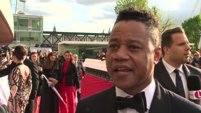 interview cuba gooding jr on oj simpson and british television at the royal festival hall on may 14 2017 in london england - royal festival hall stock videos & royalty-free footage