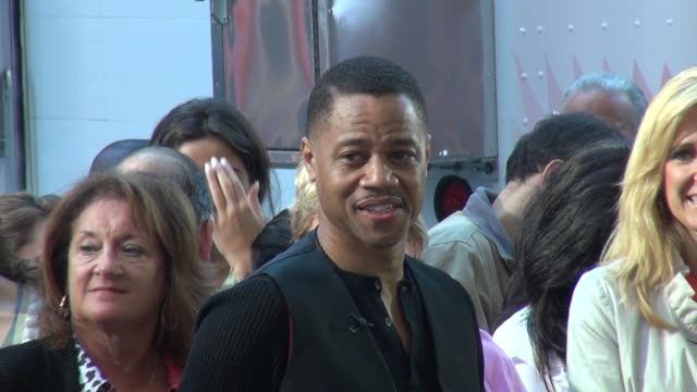 cuba gooding jr on the outside set of good morning america in times square in new york ny on 8/15/13 - good morning america stock videos and b-roll footage