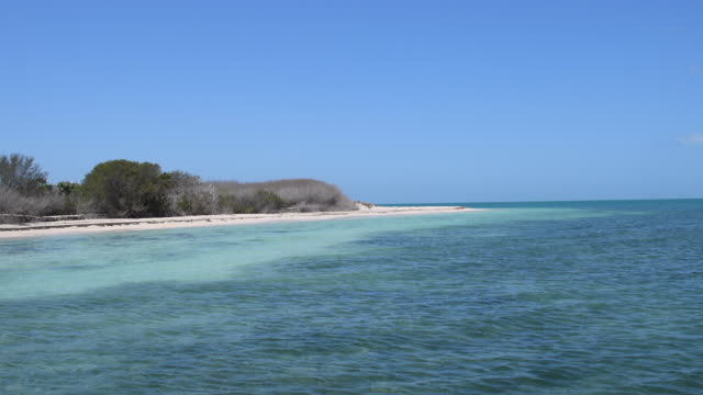 cuba hidden natural beauty: inhabited white key (spanish: cayo blanco), the pristine place is four kilometers south of tunas de zaza in the province of sancti spiritus - sancti spiritus province stock videos and b-roll footage