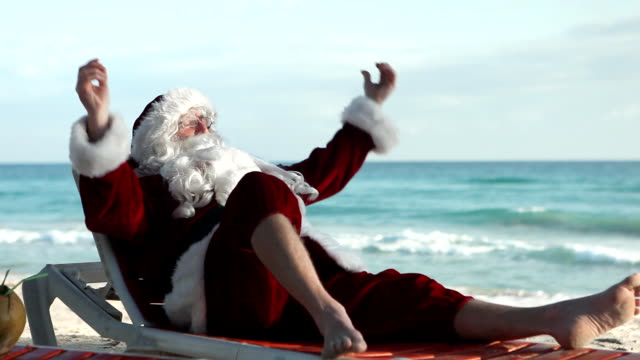 cuba santa beach - father christmas stock videos and b-roll footage