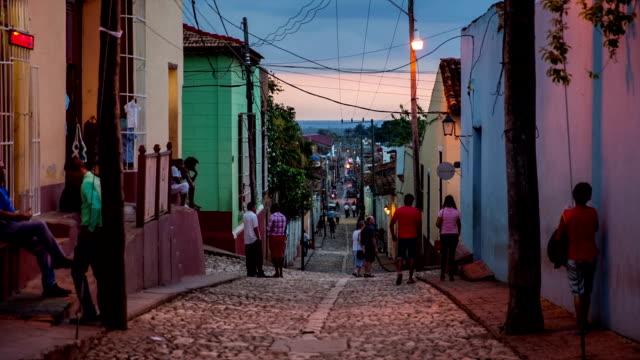 Cuba: Travel : Cobblestone street in Trinidad,Cuba