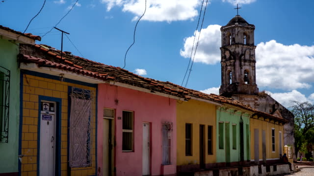 Cuba: Travel : Colourful houses in Trinidad