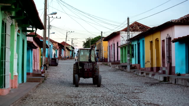 cuba: travel : cuban street in trinidad - sancti spiritus province stock videos and b-roll footage