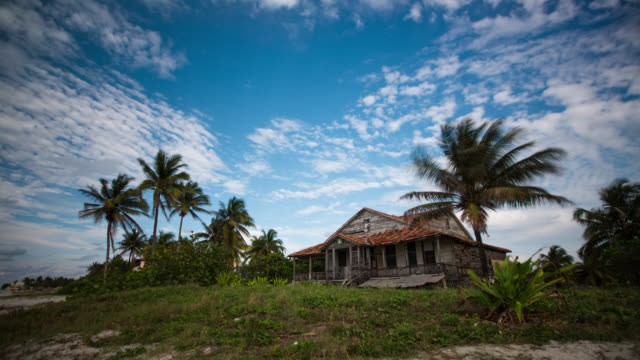 cuba: travel : time lapse of old beach house in varadero - stately home stock videos & royalty-free footage